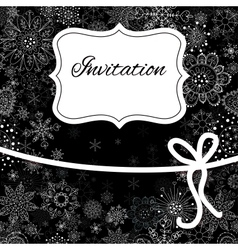 Christmas invitation card vector image