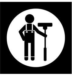 Cleaner man icon vector