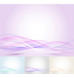 Colorful transparent wave - abstract background vector