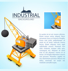 construction machinery industrial background vector image
