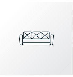 couch icon line symbol premium quality isolated vector image