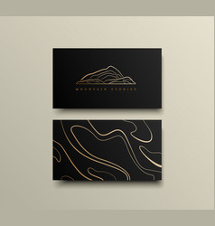 creative mountain visit card design logo vector image