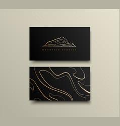 creative mountain visit card design logo vector image