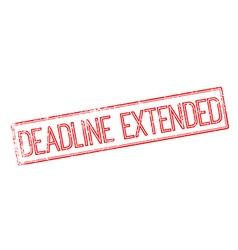 Deadline Extended red rubber stamp on white vector
