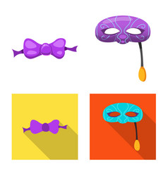 Design of party and birthday symbol vector