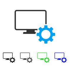 Desktop options gear flat icon vector