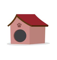 dog house isolated on white background vector image