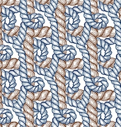 Engraved rope with swirls vector