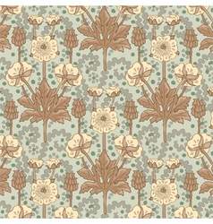 French floral pattern in modern style vector