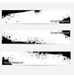 Grunge banner set vector