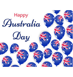 happy australia day helium balloons with vector image