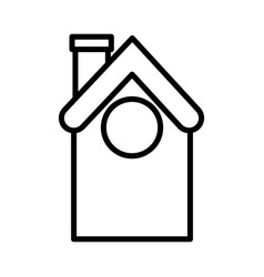 house home architecture icon thick line vector image