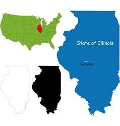 Illinois map vector image