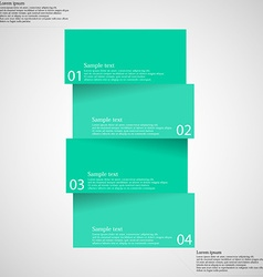 Infographic template with bar divided to four vector