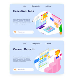 Job career and business leadership isometric vector