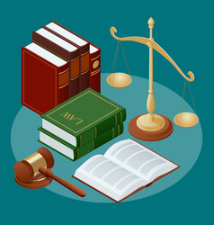 Law and justice conept symbol of and justice vector