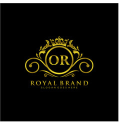 letter initial luxurious brand logo template vector image
