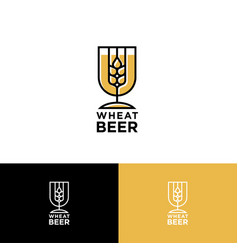 Logo wheat beer vector