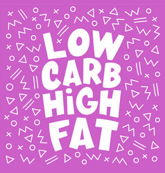 Low carb pink healthy food keto diet vector