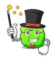 Magician shrub mascot cartoon style vector