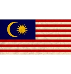 Malaysia paper flag vector
