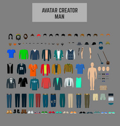 Male avatar creator man maker avatar vector