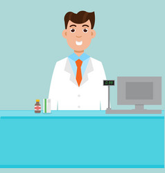man male pharmacist vector image