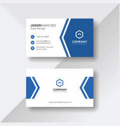 Modern business card with blue details vector