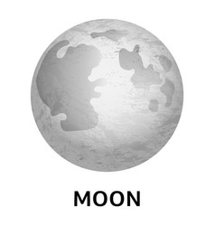 moon icon realistic style vector image