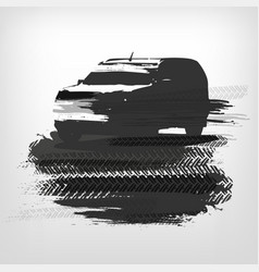 off-road car element vector image