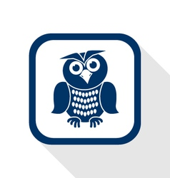 owl flat icon vector image vector image