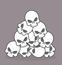 Pile skulls vector