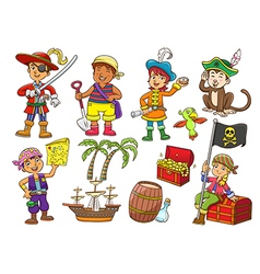pirate child cartoon vector image