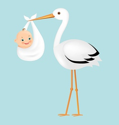 Poster stork with baby vector