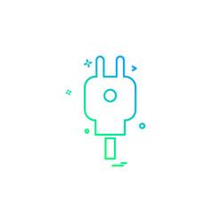 power plug icon design vector image