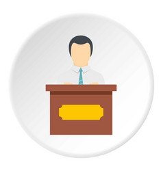 public speaker icon circle vector image