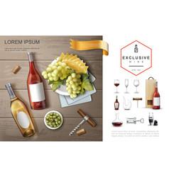realistic premium alcohol composition vector image