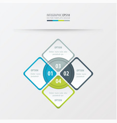 Rectangle presentation green blue gray color vector
