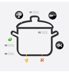 restaurant infographic vector image