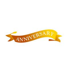 ribbon anniversary template vector image