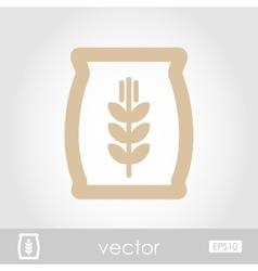 Sack of grain icon vector