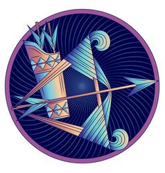 Sagittarius zodiac sign horoscope symbol vector