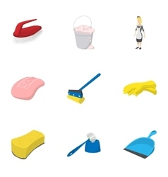 Sanitation icons set cartoon style vector