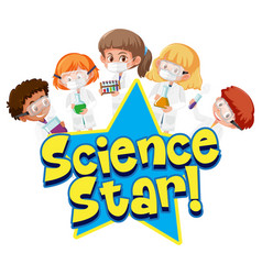 science star with kid holding experimental vector image