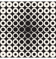 Seamless Grid of Circles Retro Pattern vector