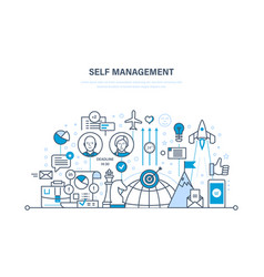Self management personal growth leadership vector