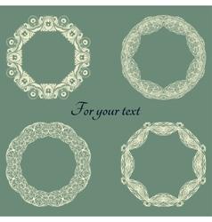 Set frames on a green vector