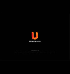 simple colorful modern letter u logo design vector image