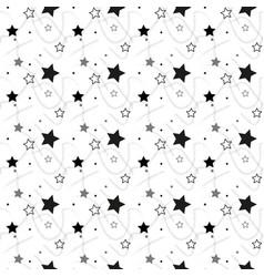 Stars seamless pattern the image starry night sky vector