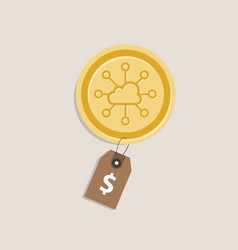 Storjoin coin price value money gold currency vector